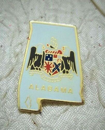 State Of Alabama Metal Lapel Or Hat Pin