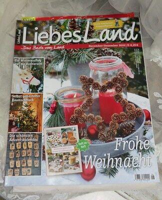 Liebes Land 6 2018 Frohe Weihnacht Baumschmuck Backen Natur Rezepte Magazin