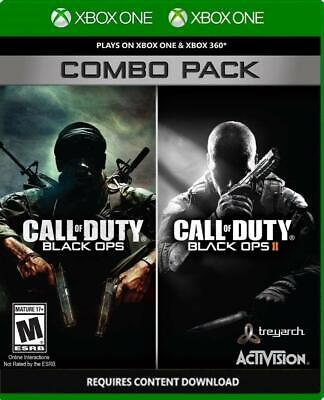 Call of Duty: Black Ops 1 & 2 Combo Pack Xbox One & 360 NEW FREE US SHIPPING