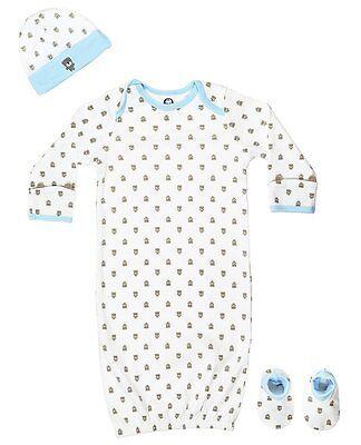 Gerber Baby  Boys Bear 4 Piece Sleepwear Essential Layette Gift (Baby Boy Layette Set)