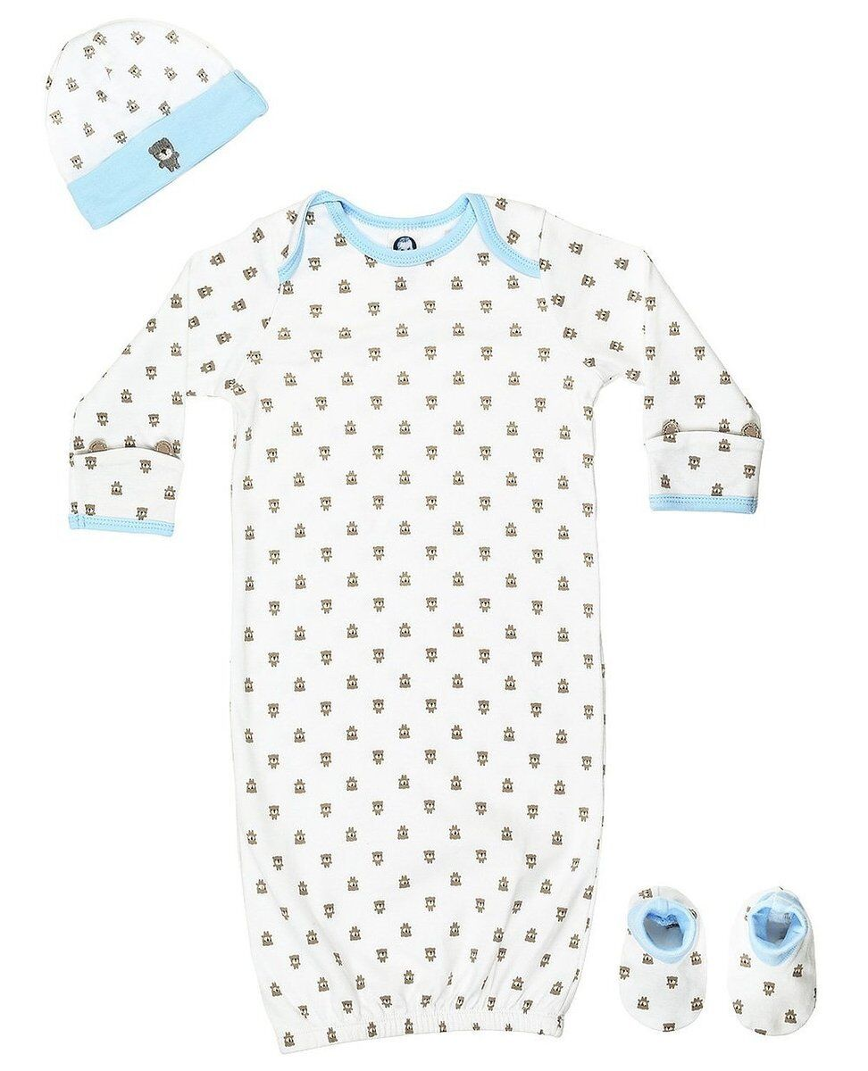 Gerber Baby  Boys Bear 4 Piece Sleepwear Essential Layette G