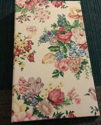 Beautiful Vintage Handcrafted 3-ring Binder Flowered Design Barely Used