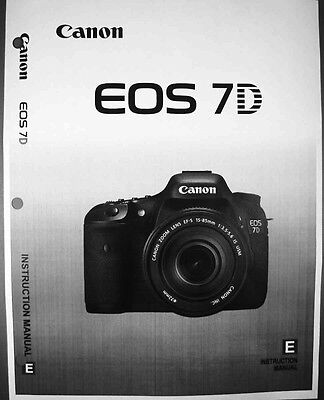 Canon Camera Instruction Manuals - Canon EOS 7D Digital Camera User Instruction Guide  Manual