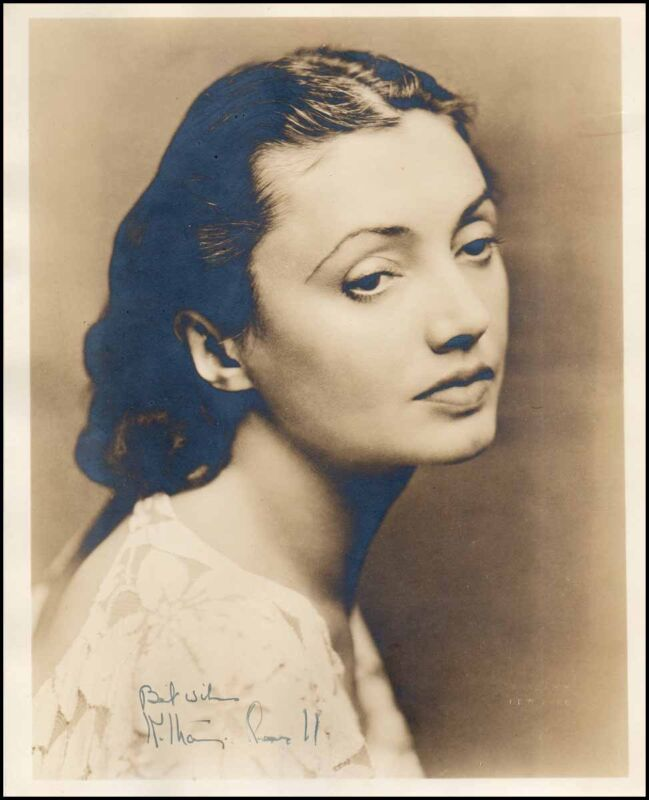 Katharine CORNELL (Actress): Signed Photograph