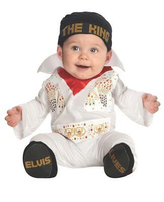 Rubies Newborn Elvis Presley Rockstar Music Infant Baby Halloween Costume 881552 - Toddler Elvis Costumes