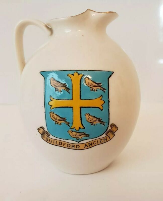 W.H.GOSS Crested Guildford Ancient Model of Roman Ewer