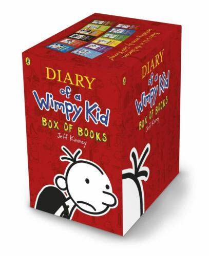 Diary of a Wimpy Kid Box Set - Books 1-12 by Jeff Kinney NEW 2019