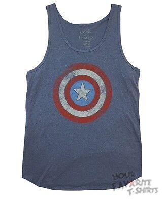 Captain America Shield Logo Marvel Comics Premium Adult Tank Top](Captain America Shield Adult)