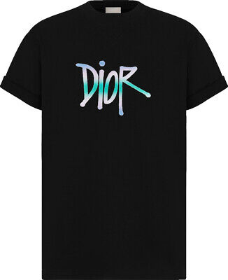 Dior And Shawn Logo T-Shirt. Black. Size S
