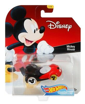 2018 Hot Wheels Disney Character Car- Mickey Mouse 1/64 Diecast Model Toy Car