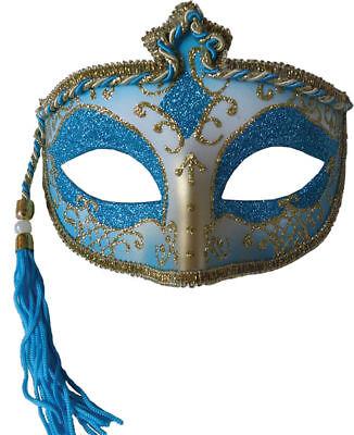 Morris Costumes Tasseled Mardi Gras Mask Christmas, Santa & New Year. MR031438