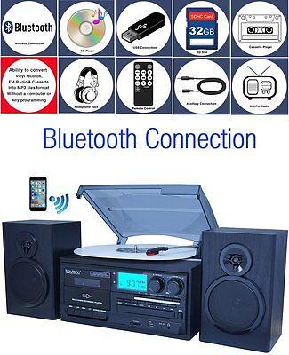 Boytone BT-28SPB, Bluetooth Classic Style Record Player Turn