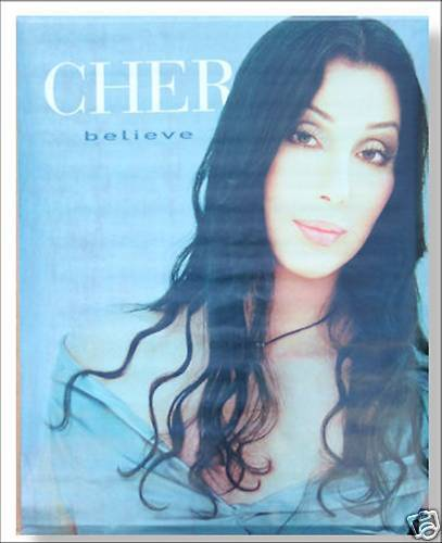 Cher Believe Long Dark Hair Picture Wall Poster New