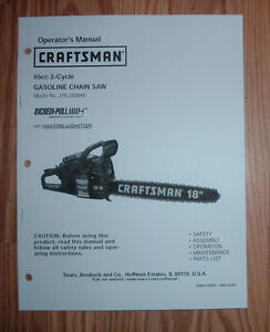 craftsman 316 350840 chain saw owners manual with. Black Bedroom Furniture Sets. Home Design Ideas