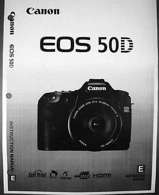 Canon EOS 50D Digital Camera User Instruction Guide  Manual