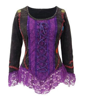 Gothic Mittelalter Mieder- Top Shirt Tunika Schnürung grün 36 38 40 42 44 46 48