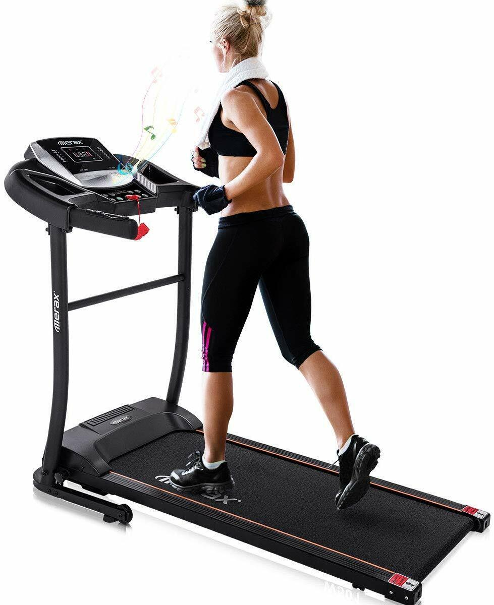 Merax Electric Folding Treadmill – Easy Assembly Fitness M