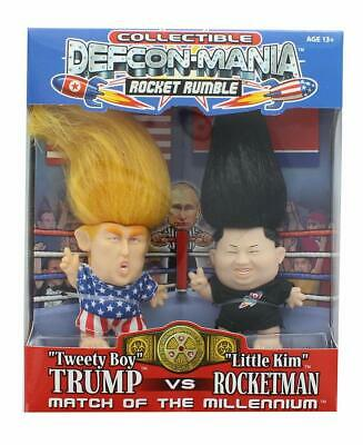 Collectible Defcon Mania, Trump vs Rocket Man (Little Kim), Trump Dolls
