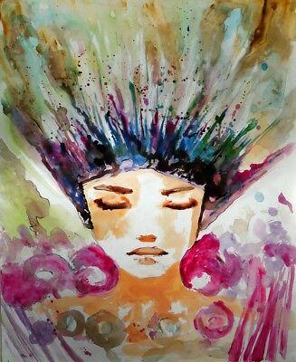 Esplosione di primavera quadro - Dipinto a olio telaio in legno