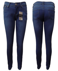 WAKEE-BLUE-SOFT-DENIM-LOW-CUT-SKINNY-LEG-JEANS-WITH-STRETCH-SIZE-8-10-12-14