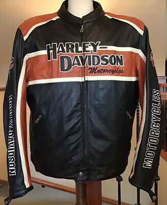 HARLEY DAVIDSON Men's 3XL Classic Cruiser B&S Armored Leather Jacket W/ Liner