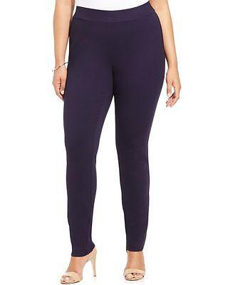 NEW (830) INC Women Casual Stretch Regular Fit Skinny Leg Pants Black Size 16W