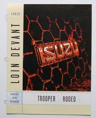 ISUZU Rodeo Trooper 2000 dealer brochure - French - Canada - ST1002000918
