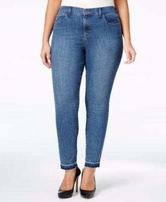 Style   Co Denim Blue Ankle Mid Rise Classic 5 Pocket Jeans Womens Plus 22W 3X
