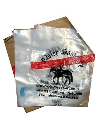 CLEAR Transparent Misprint Patch Handle Carrier Bags 15' x 18'' x 3'' 10Kg Box