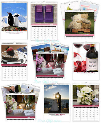 PERSONALISED Name In Image COUPLES 2019 Wall CALENDAR Gift Ideas For Christmas  ()
