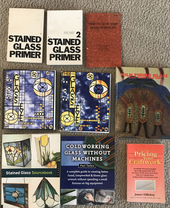 Stained Glass Book Lot - 9 Books - How To - Illustrated