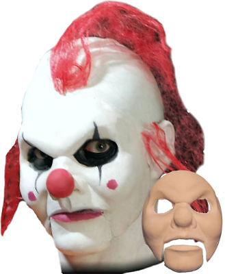 Glue Halloween Mask Face (Morris Costumes Clown Foam Latex Prosthetics Spirit Gum Face Mask.)