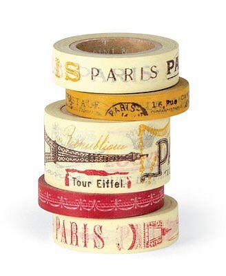 Cavallini PARIS DECORATIVE PAPER TAPE assorted 5 rolls/16 yards per roll PT/PAR