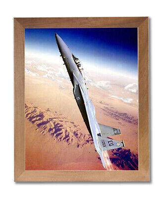 F15 Eagle Fighter Jet Airplane Wall Picture Honey Framed Art Print Fighter Jet Framed
