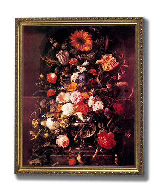 Victorian Butterfly And Flowers Contemporary Wall Picture Gold Framed Art Print ()