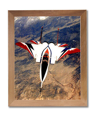 F-15 Fighter Jet Airplane Wall Picture Honey Framed Art Print Fighter Jet Framed