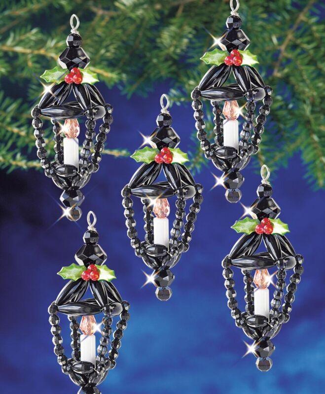 The Beadery Christmas Lanterns Beaded Ornament Kit