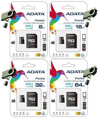 ADATA 8GB 16GB 32GB 64GB MicroSD SDHC CLASS 10 MEMORY CARD USB OTG Dual