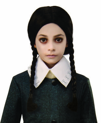 Rubies The Addams Family Wednesday Pigtail Wig Child Halloween Costume
