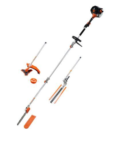 5in1 Petrol Long Reach 52cc Hedge Trimmer Strimmer Brush Cutter Pole Saw 5 in 1