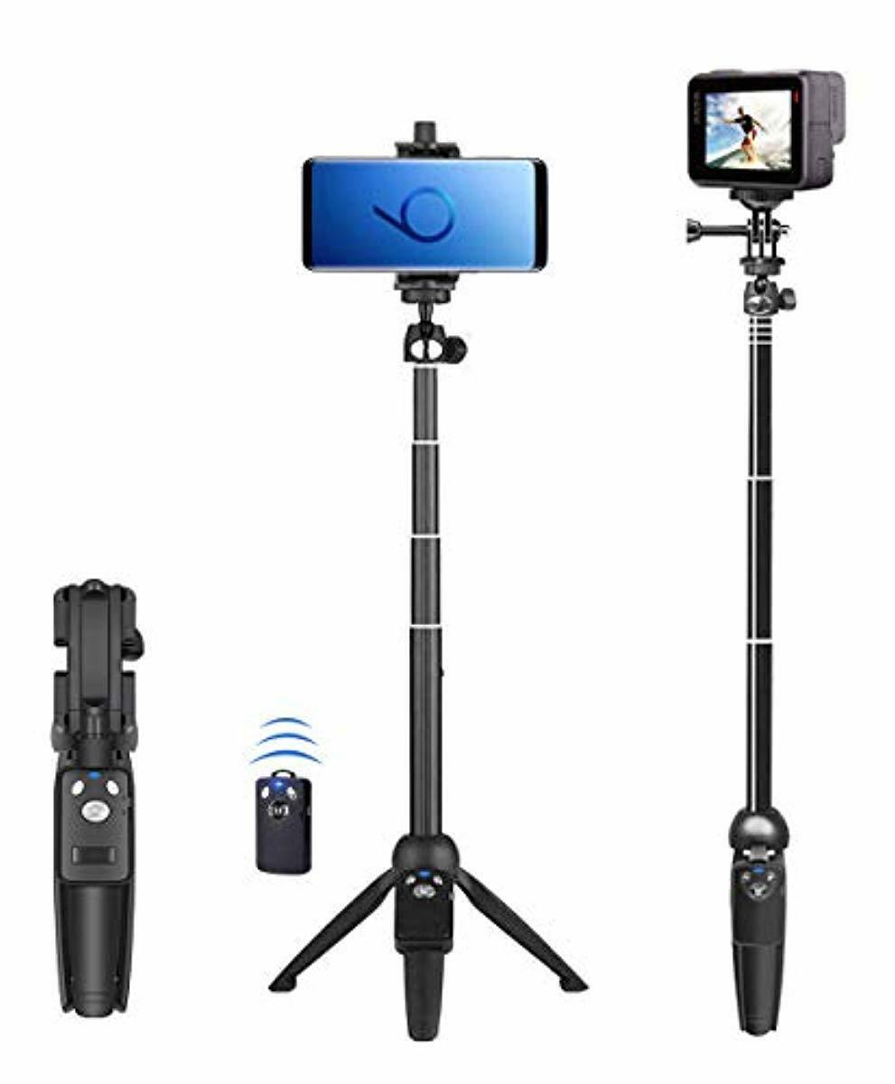 Selfie Tripod 40 inch Extendable Selfie Stick Phone Remote S