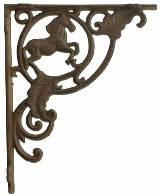 Wall Shelf Bracket Horse Brace Crafting Custom Cast Iron (Custom Wall Shelf)