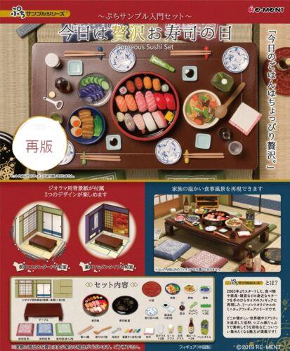 Re-Ment Miniature Petit Sample Japan Gorgeous Sushi Full Set Rement