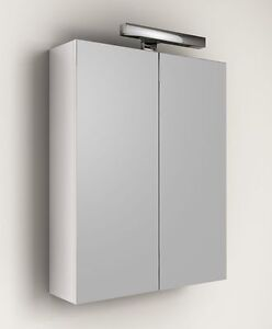 Specchio contenitore per mobile da bagno applique 60 specchiera arredo bianco ebay - Specchio contenitore ikea ...