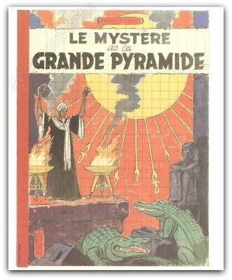 Affiche Jacobs Blake Mortimer Le Mystère de la Grande Pyramide Essai 24,8x30,4