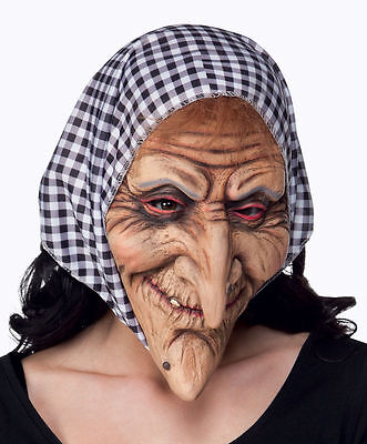 US Adult Old Witch Mask Latex Creepy Halloween Fairytale Fancy Dress - Witch Latex Mask