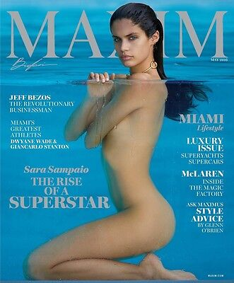 Sara Sampaio Maxim Magazine May 2016 Jeff Bezos  Dwyane Wade  Giancarlo Stanton