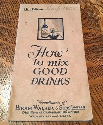 ca1920s HOW TO MIX GOOD DRINKS Hiram Walker COCKTAILS Advertising BOOKLET
