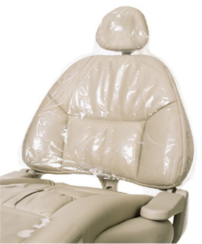 """225/Box Top Quality Clear Plastic Dental Chair Sleeves Cover Half 27.5"""" x 24"""""""