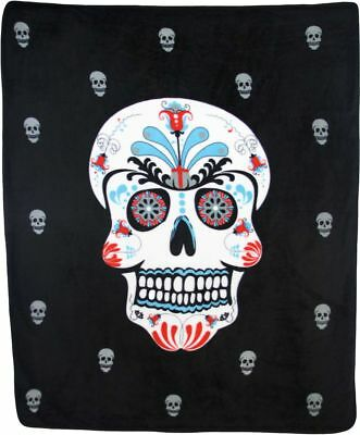 r Skull Tag der Toten 50x60 Polar Fleece Tagesdecke Plüsch (Großhandel Plüsch)